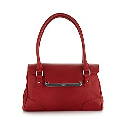The Collection - Red bar flapover shoulder bag