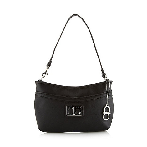The Collection - Black crosshatch underarm bag