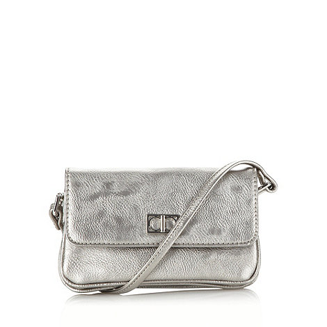 The Collection - Silver small rectangular cross body bag