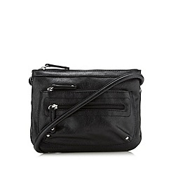 The Collection - Black zip cross body bag