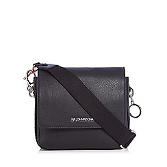 RJR.John Rocha - Black zip detail cross body bag
