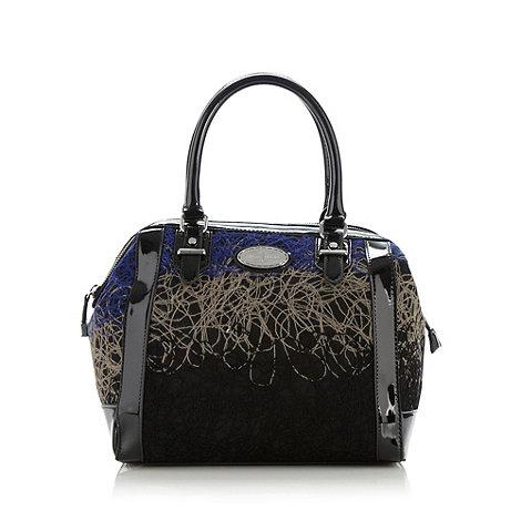 J by Jasper Conran - Designer black swirl grab bag