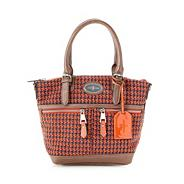 Designer orange tweed grab bag