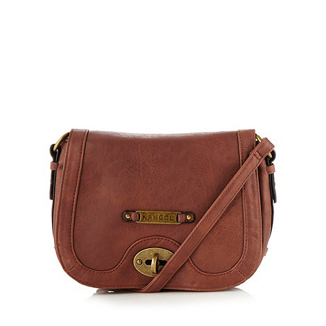 Kangol - Tan twist lock cross body bag