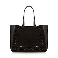 Nine by Savannah Miller - Black leather beaded shopper bag