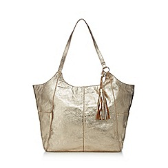 Nine by Savannah Miller - Gold metallic leather shopper bag