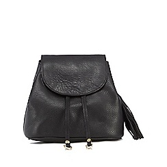 Nine by Savannah Miller - Black leather studded mini backpack