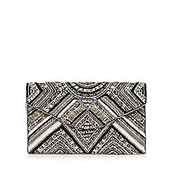 Nine by Savannah Miller - Black bead embellished envelope clutch bag