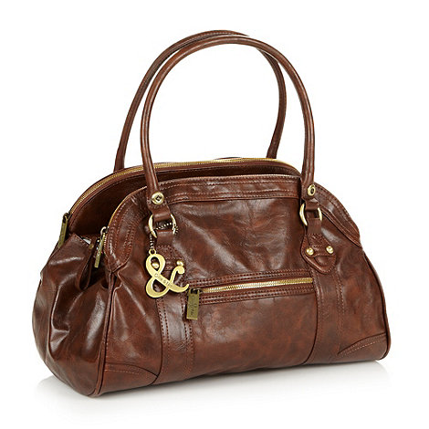 Ollie & Nic - Brown arched large shoulder bag