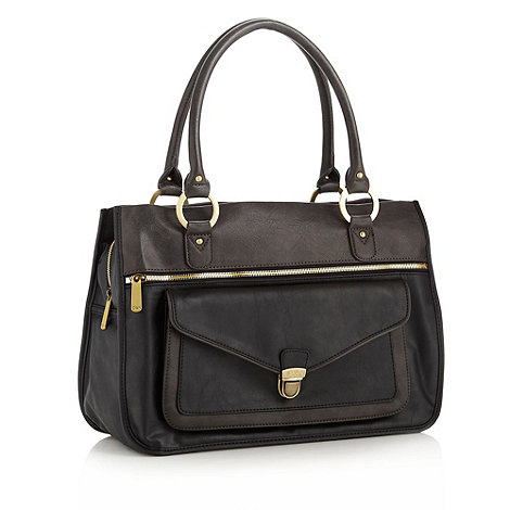 Ollie & Nic - Black multi pocket large shoulder bag