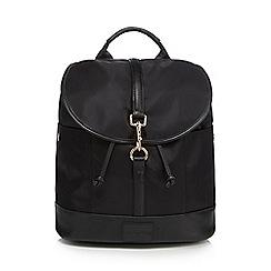 Red Herring - Black nylon backpack