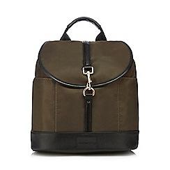 Red Herring - Khaki nylon backpack