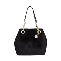 Faith - Black snakeskin-effect grab bag