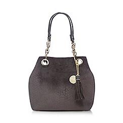 Faith - Grey snakeskin-effect grab bag