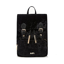 Faith - Black velvet backpack
