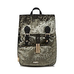 Faith - Grey velvet backpack