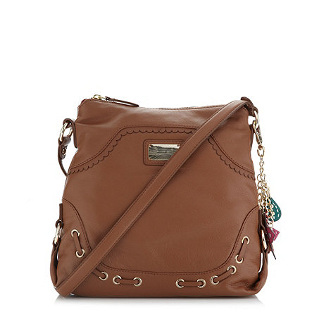 Butterfly by Matthew Williamson - Designer tan eyelet detail cross body bag