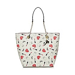 Floozie by Frost French - Multi-coloured lipstick print shopper bag