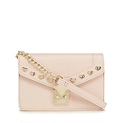 Floozie by Frost French - Light pink heart stud cross body bag