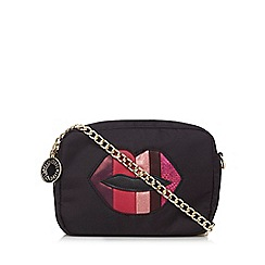 Floozie by Frost French - Black lipstick cross body bag