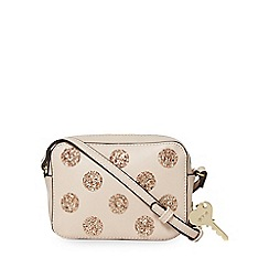 Floozie by Frost French - Beige glitter spotted cross body bag