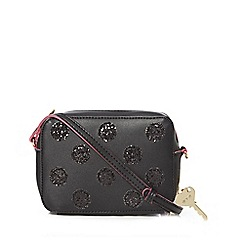 Floozie by Frost French - Black glitter spotted cross body bag