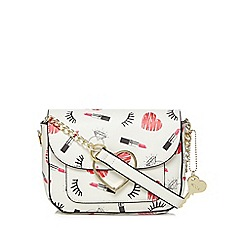 Floozie by Frost French - Multi-coloured lipstick print cross body bag