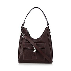 The Collection - Dark red faux leather shoulder bag