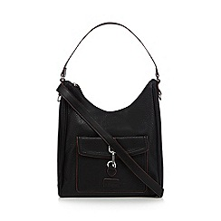 The Collection - Black faux leather shoulder bag