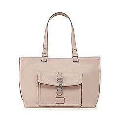 The Collection - Light pink logo badge tote bag