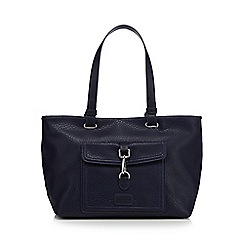 The Collection - Navy logo badge tote bag