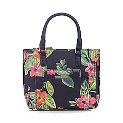 The Collection - Navy floral print grab bag