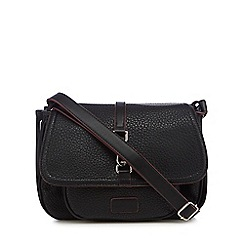 The Collection - Black dog clip satchel bag