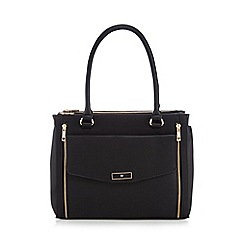 The Collection - Black large front zip tote bag