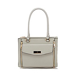 The Collection - Grey zip detail small tote bag