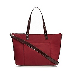 The Collection - Red large front pocket tote bag