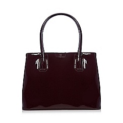 The Collection - Wine red patent large grab bag