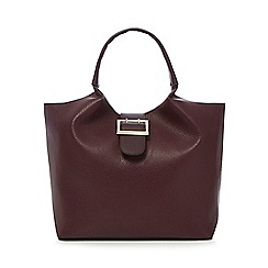 The Collection - Dark red tote bag
