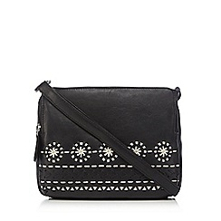The Collection - Black woven cross body bag