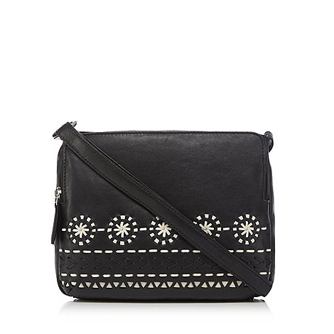 Butterfly by Matthew Williamson - Designer black embroidered butterfly shoulder bag