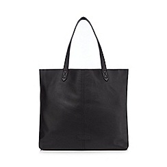 The Collection - Black leather shopper