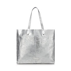 The Collection - Metallic leather shopper