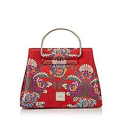 Faith - Red oriental print grab bag