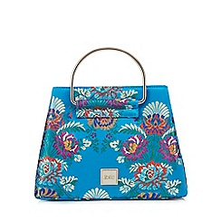 Faith - Blue oriental print grab bag