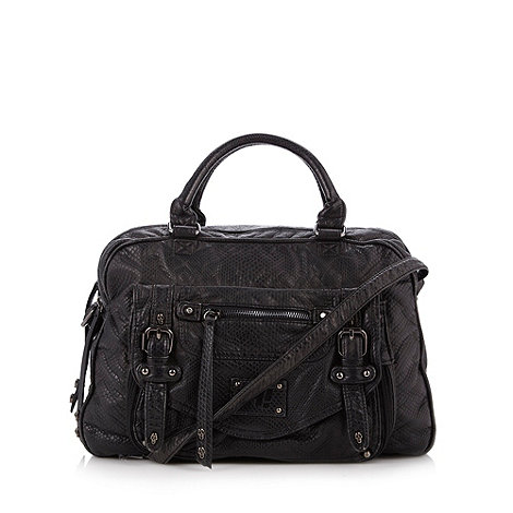 H! by Henry Holland - Designer black skull studded holdall bag