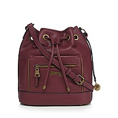 Mantaray - Dark red front zip duffle bag