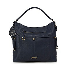 Mantaray - Navy ring zip hobo bag