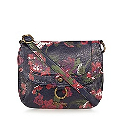 Mantaray - Multi-coloured floral print cross body bag