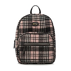 Mantaray - Grey and pink checked backpack