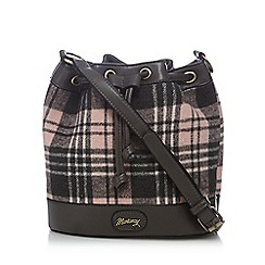 Mantaray - Grey and pink checked duffle bag